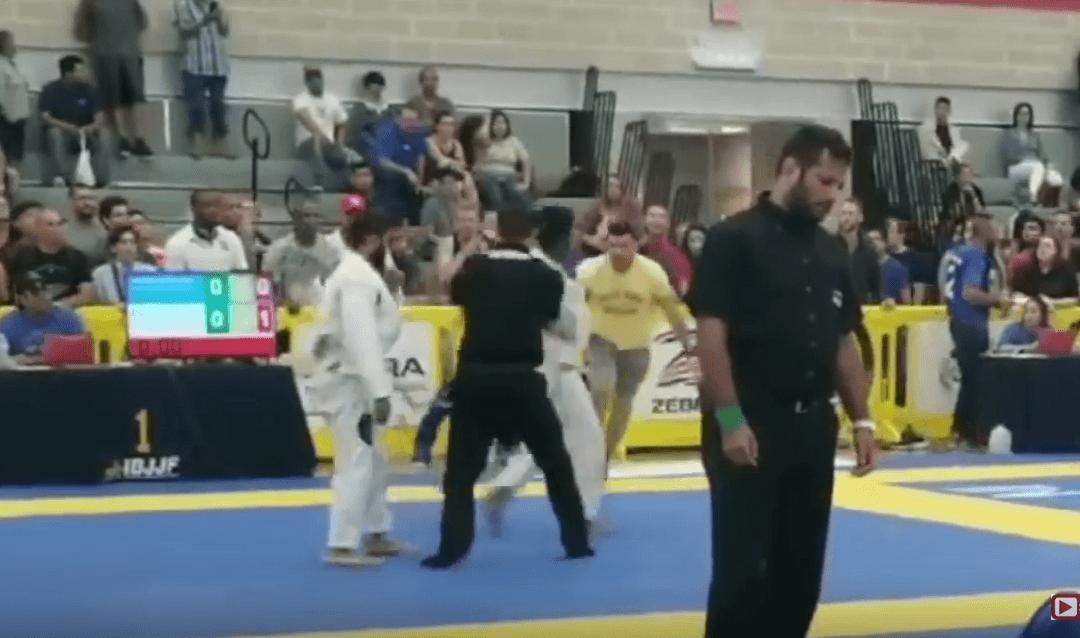Gracie Barra Blackbelt & Owner Attacks Student's Opponent at 2018 IBJJF Austin Open